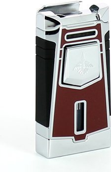 Briquet Colibri jet Empire rouge / chrome