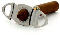 Adorini ovalen sigarenknipper van edelstaal foto 100