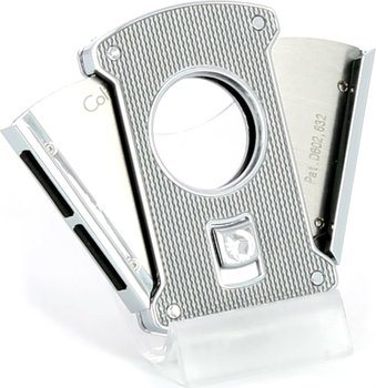Colibri 'Slice' carbon zilver/ chroom 24mm