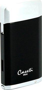 Caseti aansteker zwart/ chroom