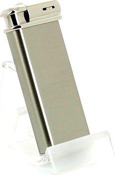 Sarome pijp aansteker inclusief tabak aanstamper chroom/ satijn