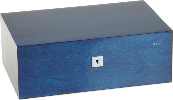 Siglo Humidor M maat 75 blauw