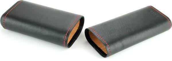 Siglo zwart, leren hoesje met rode naad