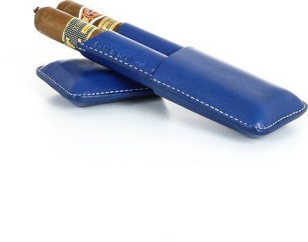 Reinhold Kühn Dubbele Sigarenhoes Gladde Top Blauw