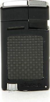 Xikar 523BKCF Forte Aansteker Zwart Koolstofvezel