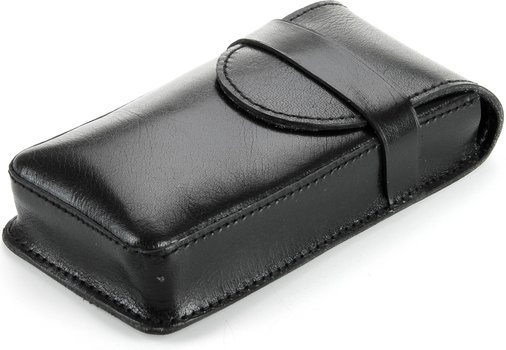 Pochette cigare Buffalo en cuir pour 3 cigares noirs