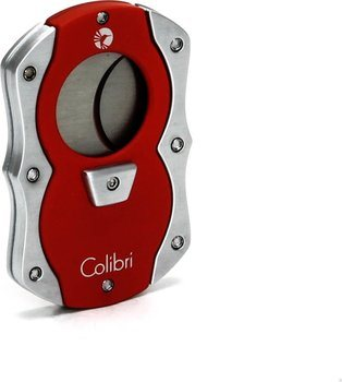 Colibri 'Cut' sigaren Guillotine Rood / Zilver
