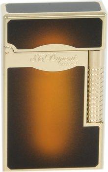 Briquet ST Dupont Line 2 Le Grand soleil éclatant brun Laque / doré
