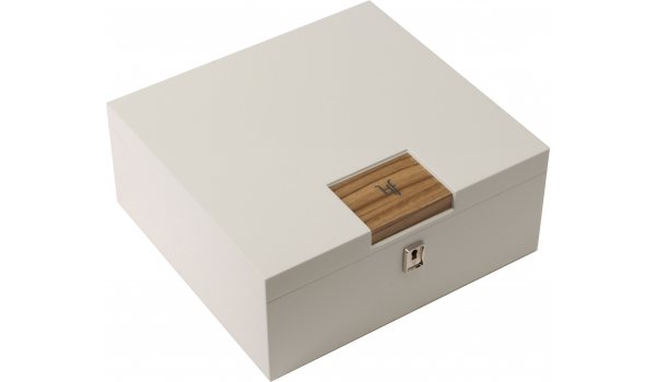 HF Barcelona W Smart desktop humidor wit