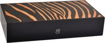 Cave Elie Bleu Safari Marqueterie Zebra 110 cigares Orange
