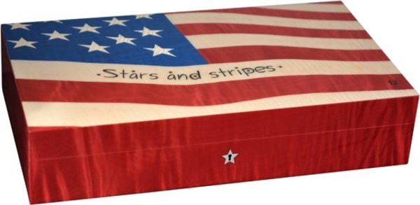 Cave Elie Bleu Stars & Stripes Flag 110 cigares