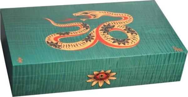 Cave Elie Bleu Sycomore Marqueterie Serpent Edition Limitée Verte (numérotée de 1 à 88)