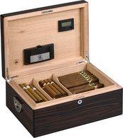 Diamante Kroon van Alexander Humidor voor 160 Sigaren Ebony Glans