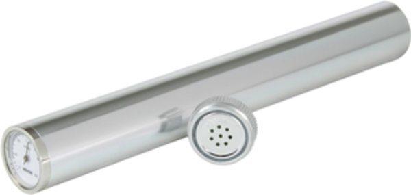 Adorini humidor tube, incl. zilverkleurige hygrometer