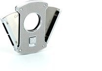 Colibri Slice sigarenknipper zilver/ koolstof 24 mm