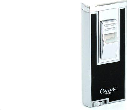 Caseti sigaren aansteker jetvlam chroom/ zwart