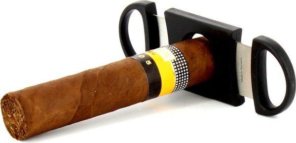 Zino Dubbel lemmet sigaarknipper zwart foto 8